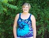 Tie Dye Tank Top- S-L Womens - River tie dye shirt