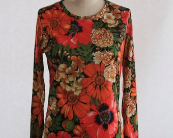 Fall Floral Daisy Shirt - Size small