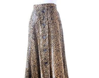 Vintage Cheetah Skirt - Size Small