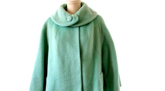 Llili Ann  - Vintage Mint Green Coat - Size MEDIUM