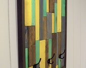 ON SALE - Reclaimed Wood Coat Rack (Yellow, Turquoise, Blue, Brown)