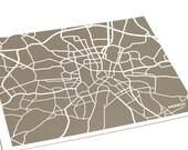 Munich Map City Print / Germany Map Art Poster Custom Street Map / 8x10 Digital Print / Choose your color