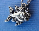 FISH Necklace - CLOSEOUT Price! Pewter Charm on a FREE Plated Chain