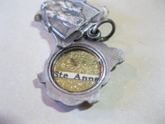 Vintage Saint Anne French Reliquary Medal