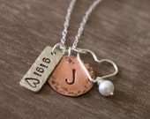 Personalized Gigi Necklace - Grandchildren Hand Stamped Necklace - Gift for Grandma