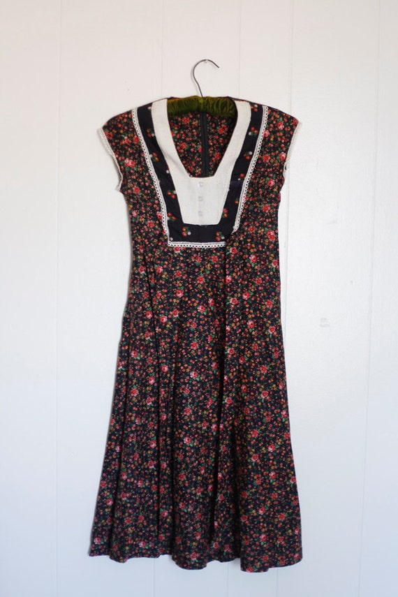 Byer Too Floral Lace Country Dress / XS/S / 1990s