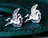 Pegasus Cuff Links - Flying Horse Wings Cufflinks - WEDDING Animal - Groom Cufflink - Mythology Creature - Greek Fairy Tale - Men's Gifts