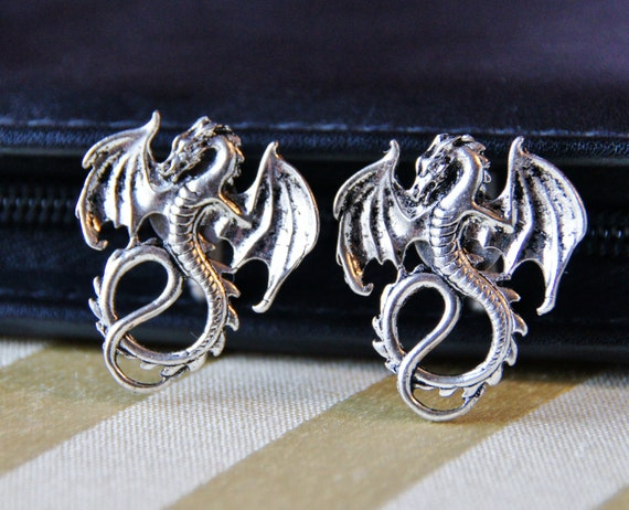 Items similar to dragon cuff links mythical beast wing for Dragon gifts for men