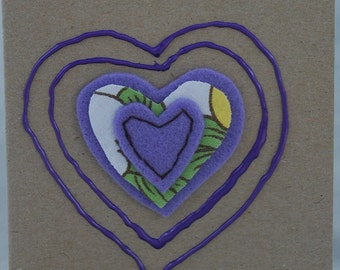 Purple Heart Card Handmade Card