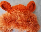 Crochet Lion Hat - Newborn, Baby, Toddler, Adult - Perfect for Halloween Trick or Treating