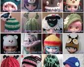 Choose Any 3 - Blythe Crochet Hat Patterns (22 styles)