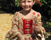 Girls Christmas Colonial Dress