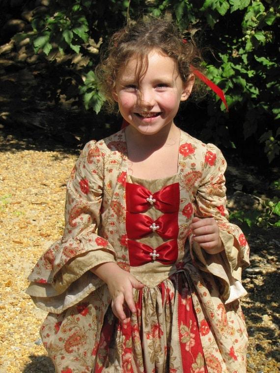 Girls Christmas Colonial Dress