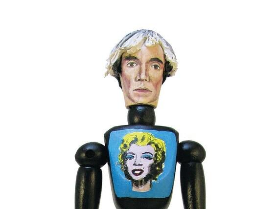 Andy Warhol Art Doll - OOAK - Unusual Art - Original Pop Art - Hand painted