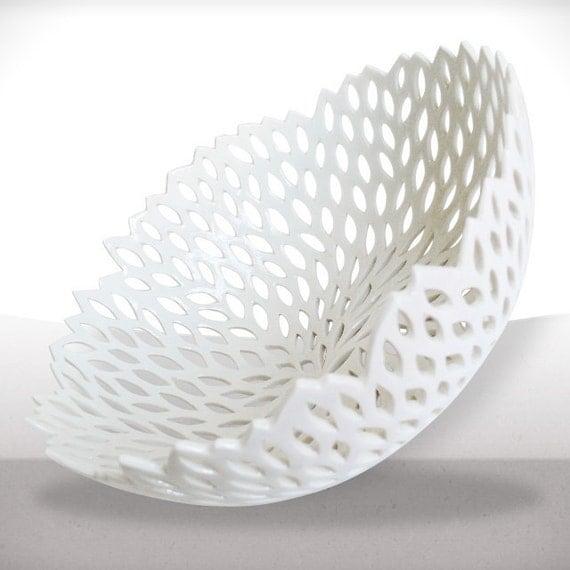 The very big white porcelain 's nest - Free tracking shipping