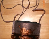 Starbucks Anniversary Blend Coffee Bag Zippered Purse Bag with leather strap
