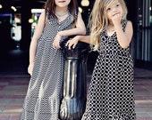 Summer Black Chevon Print Maxi Dress