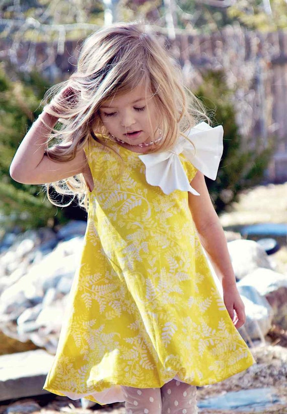 Elegant Spring Bubble Dress in Yellow