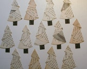 Vintage Paper Christmas Trees Embellishment
