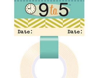 50% Off - October Afternoon 9 to 5 Washi Tape - Date -- MSRP 3.80