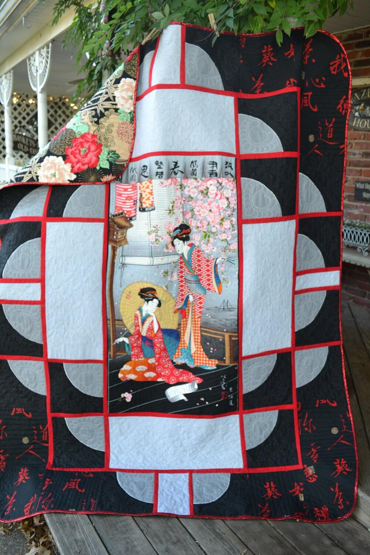 Handmade Quilt Oriental Japanese Geisha By
