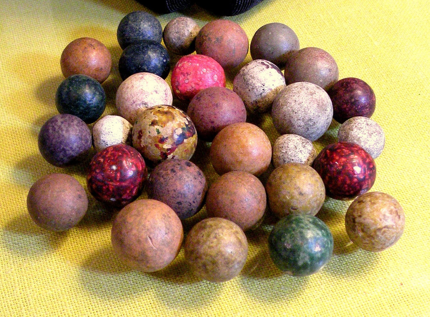 Vintage Clay Marbles Handmade Bennington By Rosepetalresources
