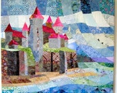Castle on the Cliffs - Quilt Fabric Art