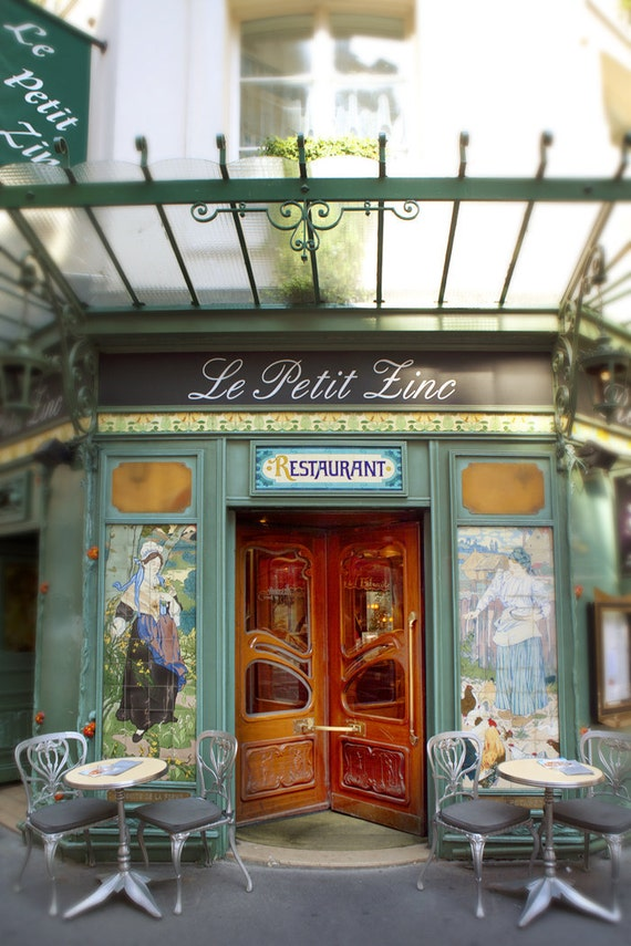 Paris Photograph - Le Petit Zinc Restaurant, Art Nouveau, Paris France, Home Decor
