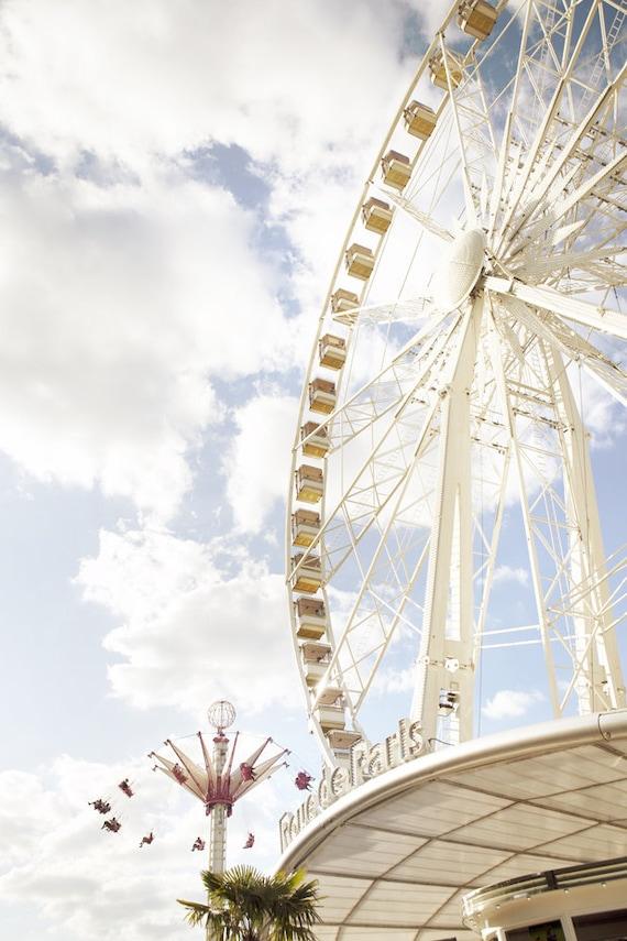 Paris Photo - Roue de Paris, Ferris Wheel, Carnival, Tuileries, Home Decor