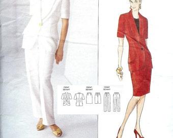 Vogue 1329 Jacket Skirt Pants Size 12-14-16 Genny (Uncut) Vogue Designer Original sewing pattern