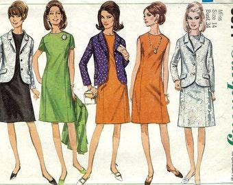 PATTERN Simplicity 6871 Jacket and A-Line Dress Size 14