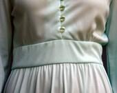 Mint Maxi Dress / Vintage 70's Mint Green / Creme de Menthe