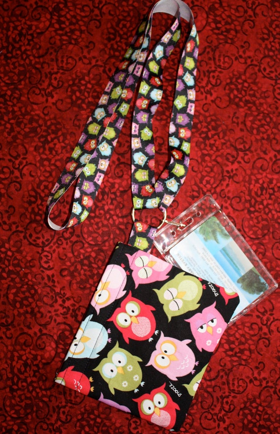 Life's a Hoot Owl Lanyard KeyRing ID Set