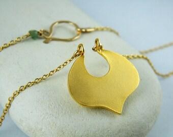 Gold leaf pendant gold leaf necklace small leaf necklace