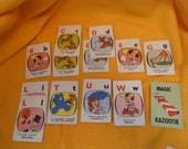 Rootie Kazootie playing cards 1953 Ed-U-Cards Vintage toy