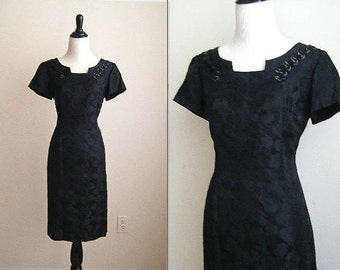 Vintage Mad Men Little Black Dress