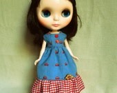 Blythe, Dal, Byul dress with little cars.