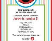 Elmo Birthday Invitation (PDF)