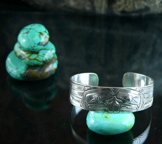 CUSTOM ORDER - RESERVED for Ann - Beaver, Sterling Silver Cuff Bracelet - First Installment