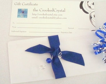 Gift Certificate - CrookedCrystal - 5 Dollars US