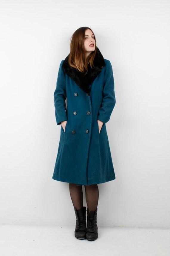 Vintage Coat Fur Collar 75