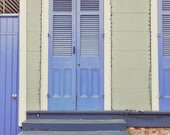 "Blue Door . New Orleans, Louisiana - Fine Art Photograph 8"" x 12"""