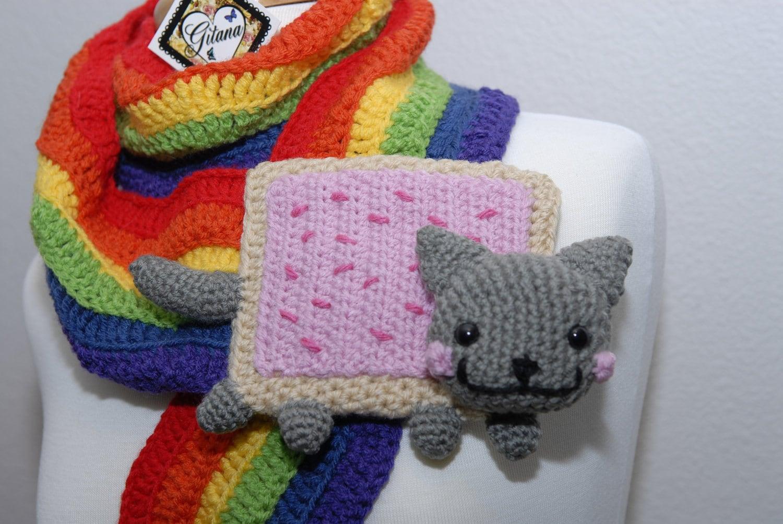 Nyan Cat Scarf Food Scarf Meme Pop Tart Scarf by ...