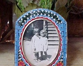 Darling Vintage Micro Mosaic Easel Back Picture Frame