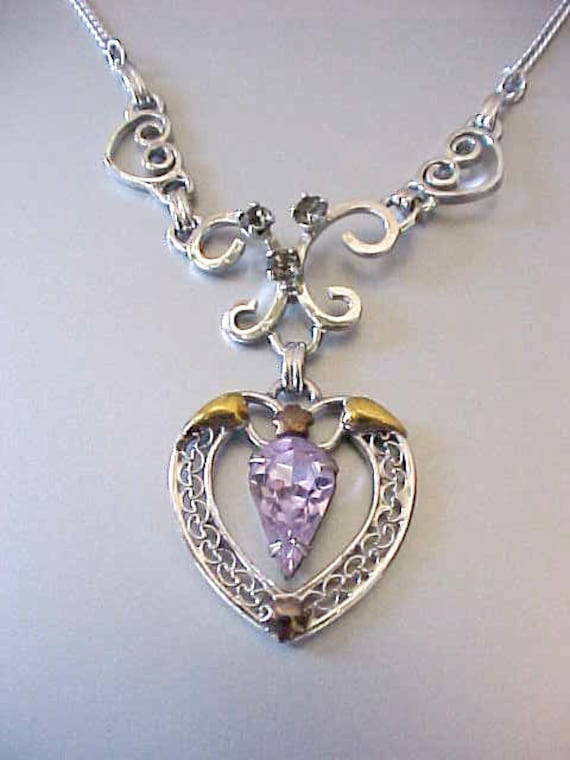 Beautiful Designer Vintage Sterling Silver Necklace and Earring Set in the Original Box