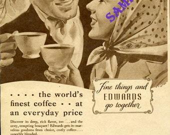 Digital Download-1938 Ad-Edwards Coffee