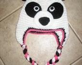 Instand Download - PDF Panda Hat PATTERN-All sizes-earflap