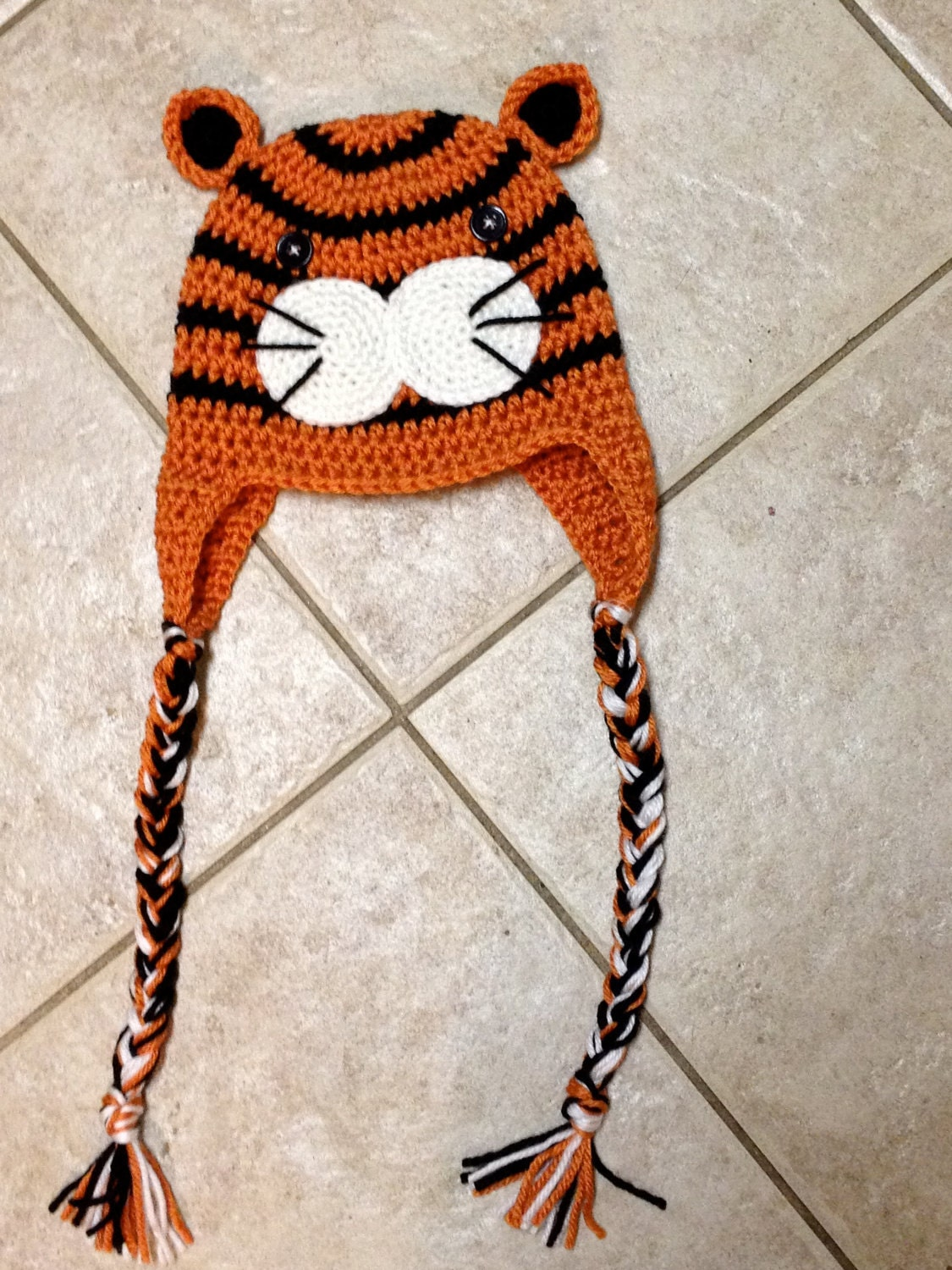 Animal Fur Head with Paws Hat
