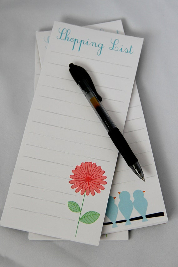 Shopping List Magnetic Notepad - set of 3