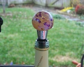 Wine Stopper  Hand Blown Glass Wine and Cheddar